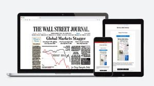 Wall Street Journal 2-Years 24 Months WSJ Online Subscription Digital Access