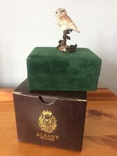ALBANY WORCESTER PORCELAIN ON BRONZE OWL BIRD FIGURE BOXED