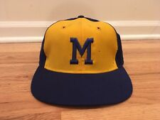 VTG Milwaukee Brewers KM Pro hat Cap 7 1/2 Leather 70s Original RARE 1974-77