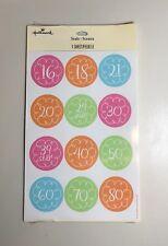 New listing Hallmark Age Seals, Sticker Sheet, Packaged Set