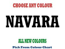 Nissan NAVARA 1000mm  *CHOICE OF COLOURS*  DECAL STICKER TRUCK CAR SUV UTE