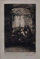Ferdinand SCHMUTZER  1870-1928   Bei der Nablin    Radierung