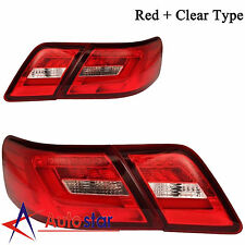 Brand New LED Red Clear Color Tail Lights Rear Lamps For 2006-2011 Toyota Camry