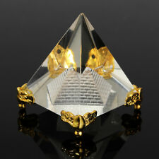 UK REIKI Energy Healing Feng Shui Egypt Egyptian Crystal Clear Pyramid Ornament
