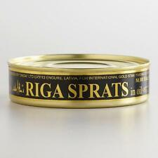 8 Canned Smoked Riga Sprats in Oil Nt.Wt 5.6oz.Ea Produced in Latvia.Шпроты160gr