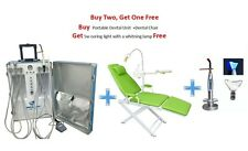 Portable Dental Unit 4H+Dental Chair with LED lamp&Basin Support+5W Curing Light