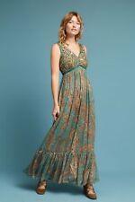 NWT ANTHROPOLOGIE by RANNA GILL Beaded Paisley Maxi Dress Sz 8-$228