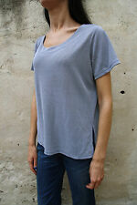 PIERRE CARDIN Womens Short Sleeved GREY Striped T Shirt Stretch Top Ladies L