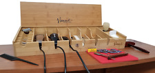 Vincent Counter Top Tool Box for Barbers or Stylist Made of Bamboo (AYVT10200)