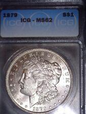 1879 Morgan Silver Dollar, ICG MS62, Fast Tracked Shipping