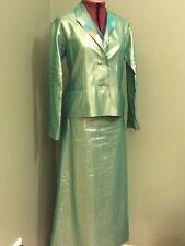ISSEY MIYAKE Green Suit Jacket/Skirt Size 3