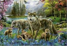 Eurographics Jigsaw 500 LARGE pieces Wolf Lake Fantasy NEW