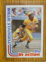 1982 TOPPS CARD # 716  WILLIE STARGELL  IN ACTION CARD