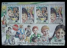 """NEW ZEALAND. 1996. Health Stamps-Child Safety.""""Teddy Bear"""".(REPRODUCTION.)BLOCK."""