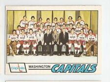 1977-78 OPC #88 WASHINGTON CAPITALS TEAM CHECKLIST UNMARKED O-PEE-CHEE