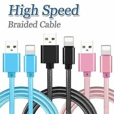 Braided USB Charger Cable Data Sync Cord For iPhone 11 Max XR Plus 6 iPhone X 8