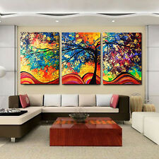 3Pcs/Set Oil Painting Tree Home Livingroom Decoration None Frame Picture