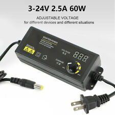 Power Supplies Adjustable Voltage With Led Display 3 To 24v Ac Dc Switch Adapter