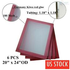 """6 PACK 20"""" x 24"""" 180 Hi Tension Mesh Professional Aluminum Screen Printing Frame"""