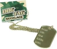 Military Army Navy Airforce Style Hen Stag Top Gun Dog Tag Fancy Dress