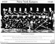 1939-1940 NEW YORK RANGERS STANLEY CUP CHAMPIONS  8X10 TEAM PHOTO