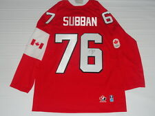 PK SUBBAN SIGNED 2014 TEAM CANADA OLYMPIC JERSEY SOCHI LICENSED P.K. GOLD