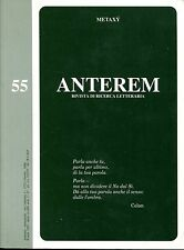 ANTEREM N. 55 DICEMBRE 1997 ANNO XXII METAXY RIVISTA DI RICERCA LETTERARIA
