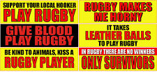 "RUGBY 2.5"" X 8.5"" STICKER COLLECTION UNIQUE SPORT SET OF 6 STICKERS"