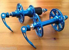 Formula Road Bike F&R Hub Set Hubs 28H Shimano Anodized Blue Titanium Skewers