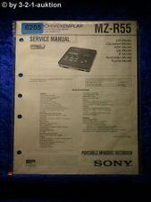 Sony Service Manual MZ R55 Mini Disc Recorder (#6205)