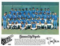 1982 KANSAS CITY ROYALS 8X10 TEAM PHOTO BRETT MCRAE HOF  BASEBALL USA