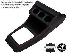 RED STITCHING CENTRE CONSOLE LEATHER COVER FITS VW GOLF MK1 JETTA CABRIO
