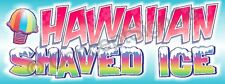 4'x10' HAWAIIAN SHAVED ICE BANNER Sign Snow Sno Cones Concessions Stand Fair XL