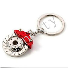 Fashion Mini JDM Car Parts Tuning Red Brake Disc Shape Keychain Keyring