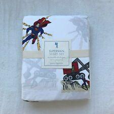 NWT Pottery barn kids Superman Sheet Set Full
