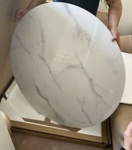 Marble Effect Savoy Round Dining Table Top