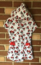 Disney Store Girls 5 6 Minnie Mouse French Terry Hooded Swim Cover Romper