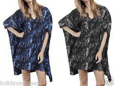 Plus size 30/32 UK Ladies womans summer holiday evening kimono kaftan top tunic