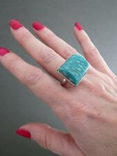 Vintage Russian Silver Amazonite Ring