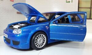1:24 Scale VW Golf GTI Blue Mark 4 Mk4 R32 V6 31290 Maisto Detailed Model R-32