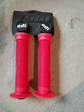 ODI Soft Flanged Longneck ST Grips Softies w/ Plugs BMX Bikes & Scooters - RED