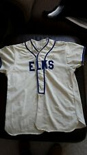 Vintage old mid 20th century Usa baseball jersey sewn on letters S or M