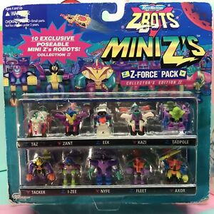 Micro Machines ZBots Mini Z's Z-force Pack Collector's Edition II ~ Galoob 1997