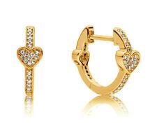 Genuine PANDORA Spiritual Feathers Hanging Earrings 14k Gold Vermeil 297205EN168