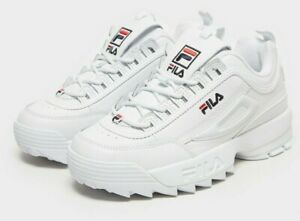 FILA Disruptor II Womens UK 7.5 EU 41 Triple White Chunky Sneakers Trainers