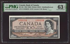 Canada 🇨🇦 1954 - $100 Mod. Portrait - Lawson/Bouey - PMG Choice UNC 63 EPQ