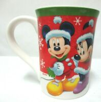 Disney Christmas Cup Mug Mickey Minnie Mouse Holiday Kcare 14014KT Collectible