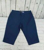 NEW Tommy Bahama Sail Away Boardwalk Navy Blue Shorts Women's Size 2