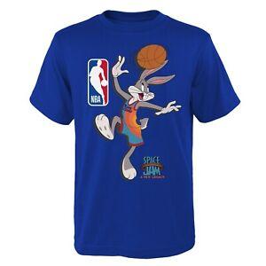 Space Jam Kinder T-Shirt The Hook 31st Team Bugs Bunny New Legacy Youth NBA blau