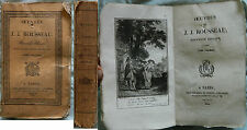 """E/ OEUVRES DE JJ ROUSSEAU T11 """"THEATRE"""" (Thomine et Fortic 1822) +6 Gravures"""